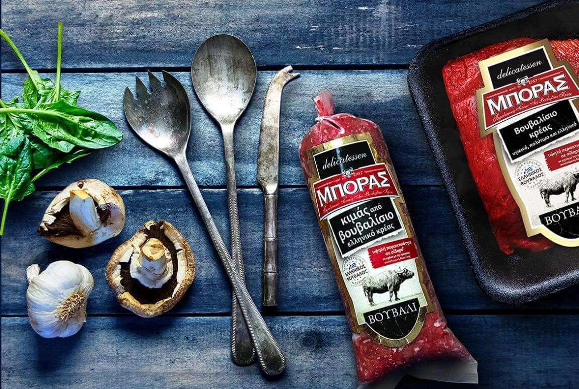 Βουβαλίσιος κιμάς Κερκίνης, Βουβαλίσιο Κρέας Μπόρας, βουβαλίσιο κρεάς Κερκίνης, 100% βουβαλίσιο κρέας, συσκευασία