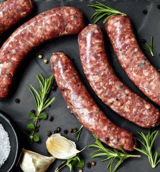 Λουκάνικα με ελληνικό βουβαλίσιο κρέας Μπόρας